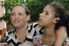 Larissa e a mãe