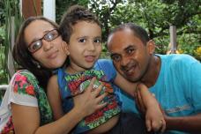 Ryan e os pais