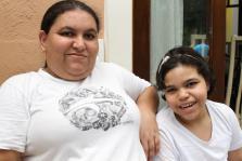 Rafaela e a mãe